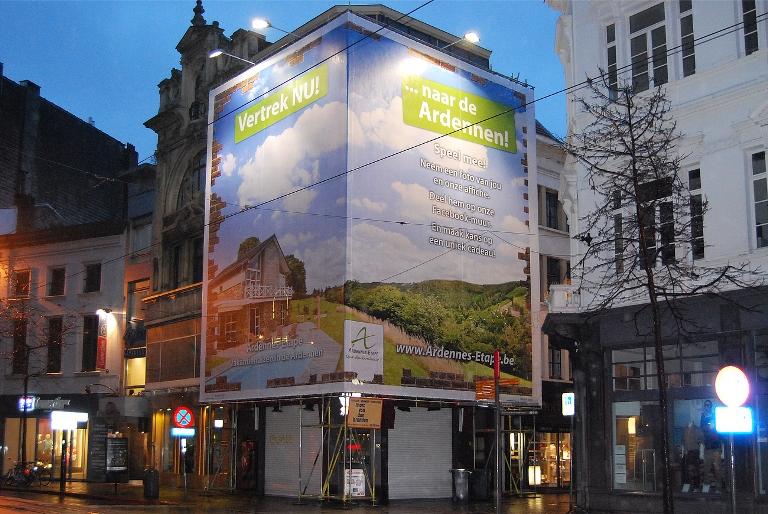 Antwerpen-Affiche-Zitzakken-Promotiemateriaal-Recycling